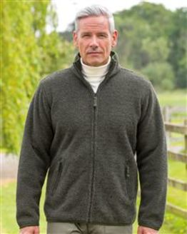Fleece Zip Front Jacket