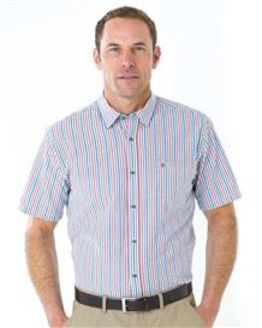 Pure Cotton Short Sleeve Seersucker Shirt