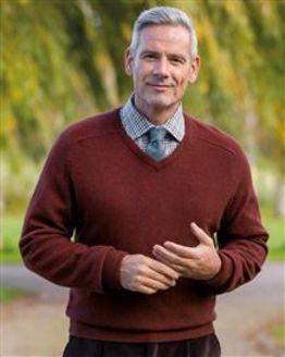 Lambswool Cinnamon V Neck Sweater