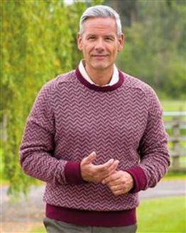All over Herringbone Lambswool Sweater