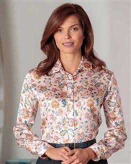 Valentina Floral Liberty Print Pure Silk Blouse