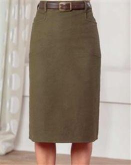 Moleskin Straight Skirt