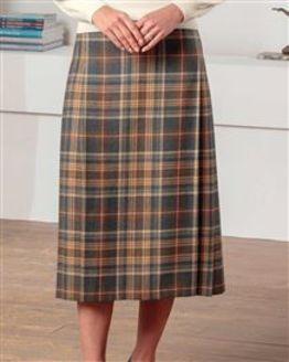 Grasmere Pure Wool Mock Kilt Style Skirt