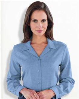 Two Way Collar Blue Blouse