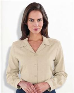 Two Way Collar Camel Blouse