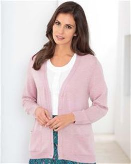 Merino Light Pink Wool Cardigan