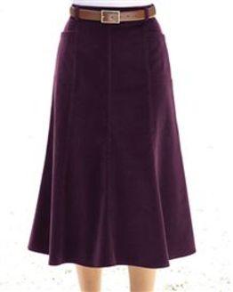 Needlecord Skirt