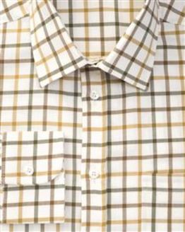York Tattersall Check Pure Cotton Twill Shirt