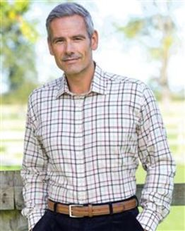 Exeter Tattersall Check Cotton & Wool Shirt