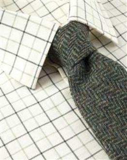 Ludlow Tattersall Check Cotton & Wool Shirt