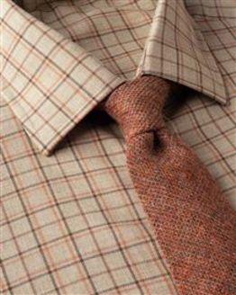 Ripon Tattersall Check Cotton & Wool Shirt