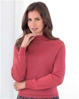 Merino Wool Rosehip Turtle Neck Sweater