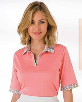 Colleen Pure Cotton Trimmed Short Sleeve Polo