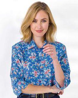 Pauline Floral Linen Blend Blouse