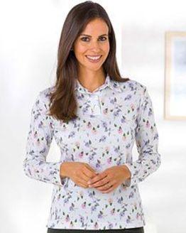 Claire Silky Cotton Polo