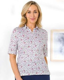 Lisa Multi Coloured Pure Cotton Polo
