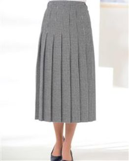 Oxford Wool Rich Pleated Skirt