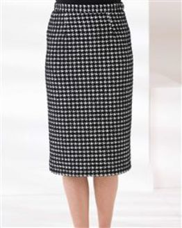 Downton Wool Mix Straight Skirt