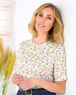 Adaline Floral Pure Cotton Leisure Top