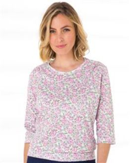 Candace Floral Pure Cotton Blouson Top