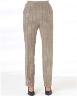 Murcia Wool Blend Checked Trousers
