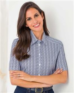 Logan Patterned Pure Cotton Blouse