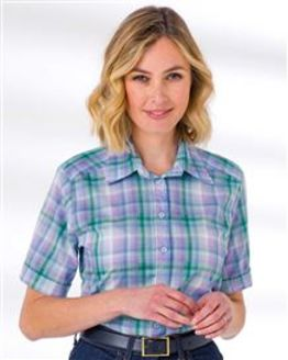 Josephine Checked Pure Cotton Blouse