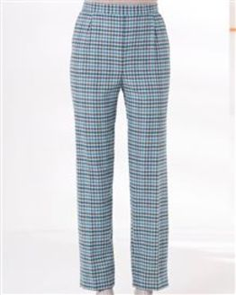Cotswold Wool Blend Checked Trousers