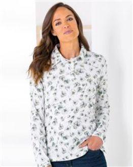 Elaine Multi Coloured Pure Cotton Polo Top
