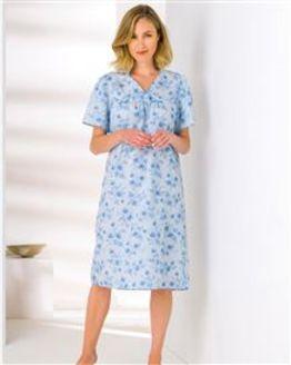 Slenderella Rosemarie Open Back Nightdress