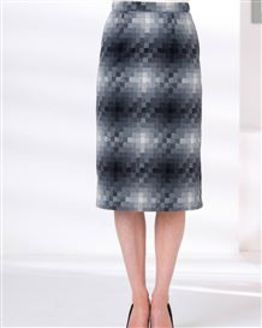 Anastacia Wool Mix Straight Skirt