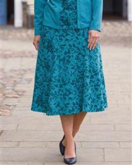 TIGI Mid Length Abstract Print Skirt