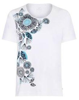 TIGI White Flower Print T Shirt