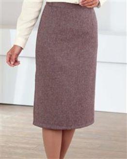 Roseburn Multi Coloured Pure Wool Straight Skirt