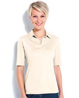 Silky Cotton Ladies Polo Top