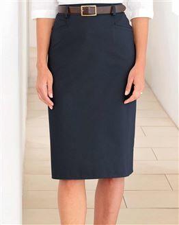 Chino Pure Cotton Twill Straight Skirt