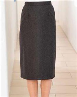 Flannel Straight Skirt