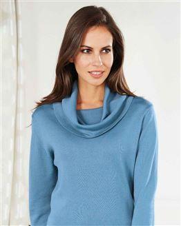 Cowl Neck Merino Sweater