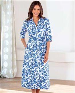 Delia Multi Coloured Cotton Mix Dress