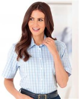 Diane Checked Pure Cotton Blouse