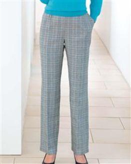 Rimini Checked Cotton Mix Trousers