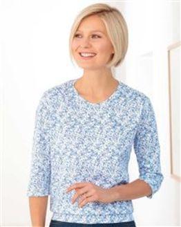 Annie Floral Silky Cotton Blouson Top