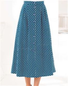 Polka Dot Patterned Pure Cotton Skirt