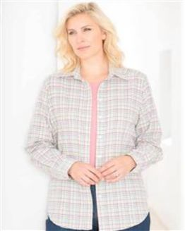 Country Check Shirt in Pink and Chocolate