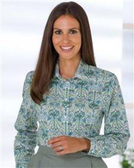 Lexi Pure Cotton Patterned Blouse