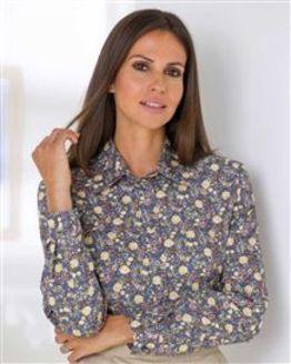 Esther Pure Cotton Patterned Blouse