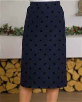 Tabitha Wool Rich Straight Skirt