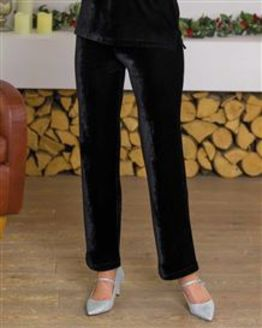Giselle Mock Velvet Trousers