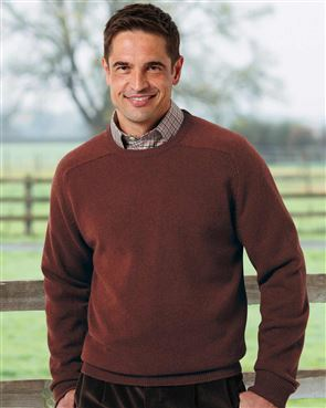 Lambswool Cinnamon Crew Neck Sweater