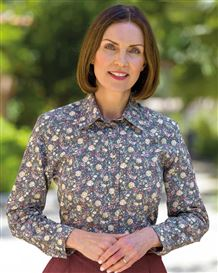 Esther Pure Cotton Patterned Blouse